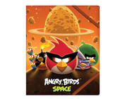 "Папка пластикова дитяча В5 на резинках, ""Angry Birds Space"""
